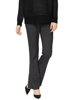 Secret Fit Belly Tweed Slim Boot Maternity Pants, Multi