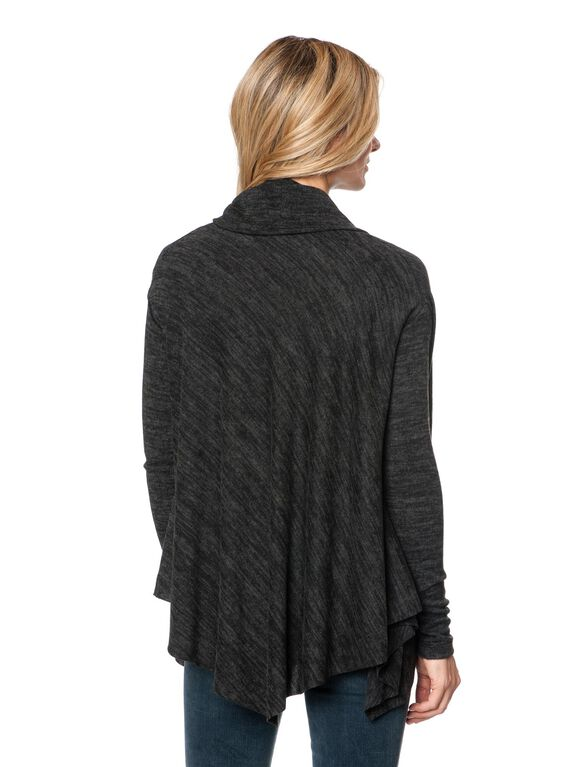 Drew Drop Shoulder Maternity Sweater, Charcoal
