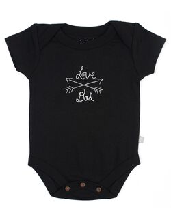 Finn + Emma Love Dad Bodysuit, Black
