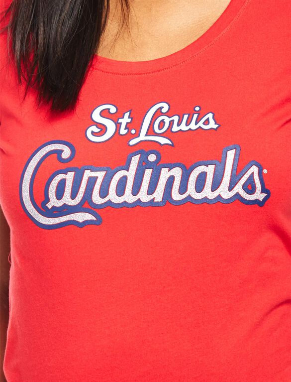 St. Louis Cardinals MLB You're Out Maternity Tee, Cardinals Red