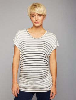 Beyond The Bump Maternity Tee, OMBRE STRIPE