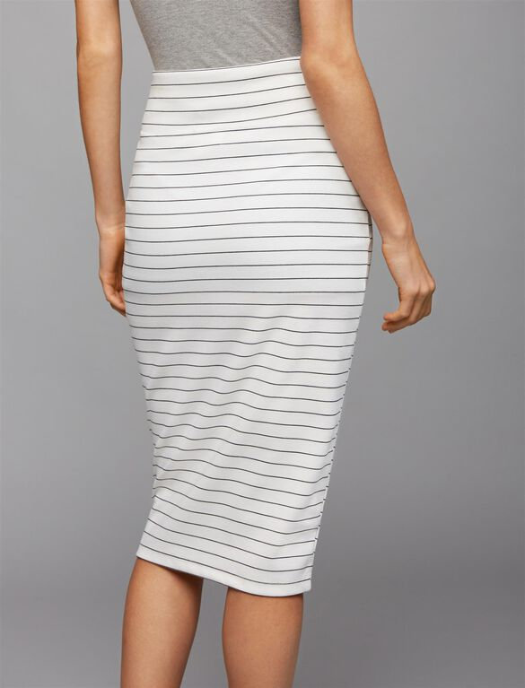 Ripe Pencil Fit Maternity Skirt, Stripe