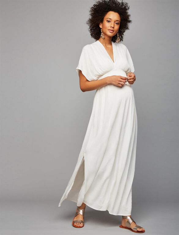 Ella Moss Gauze Maternity Maxi Dress, White