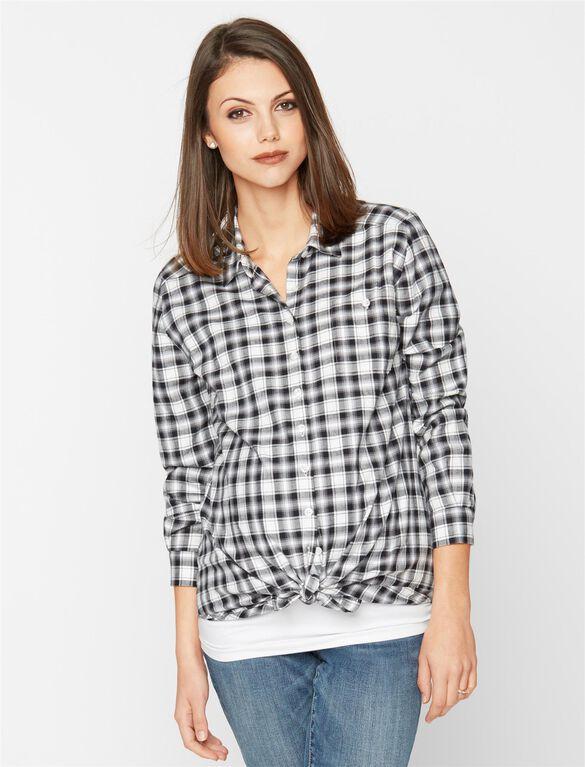 Isabella Oliver Plaid Maternity Shirt, Plaid