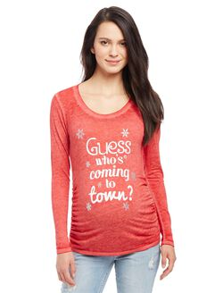 Guess Who's Coming to Town Maternity Tee, Guess Who's Cherry
