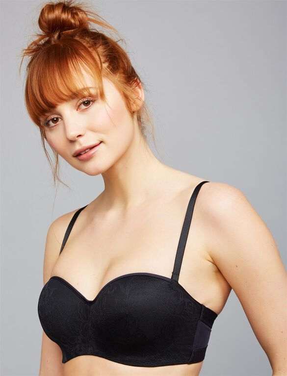 Natori Private Luxuries Strapless Maternity Bra- Black, Black
