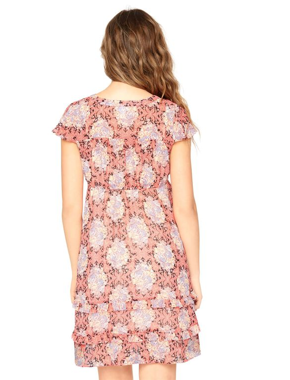 Ruffle Front Maternity Dress, Multi Floral