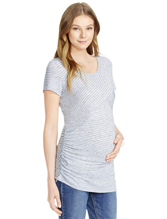 Jessica Simpson Striped Maternity Top, Blue