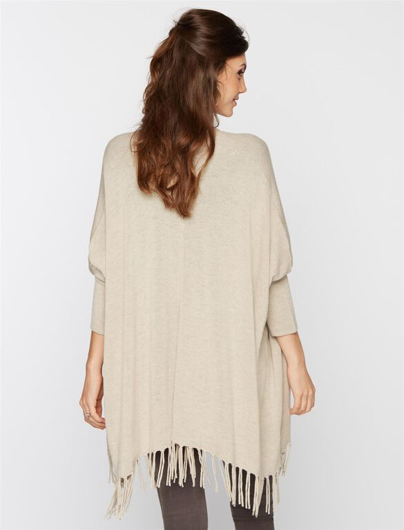 Ella Moss High-low Hem Maternity Sweater, Oatmeal