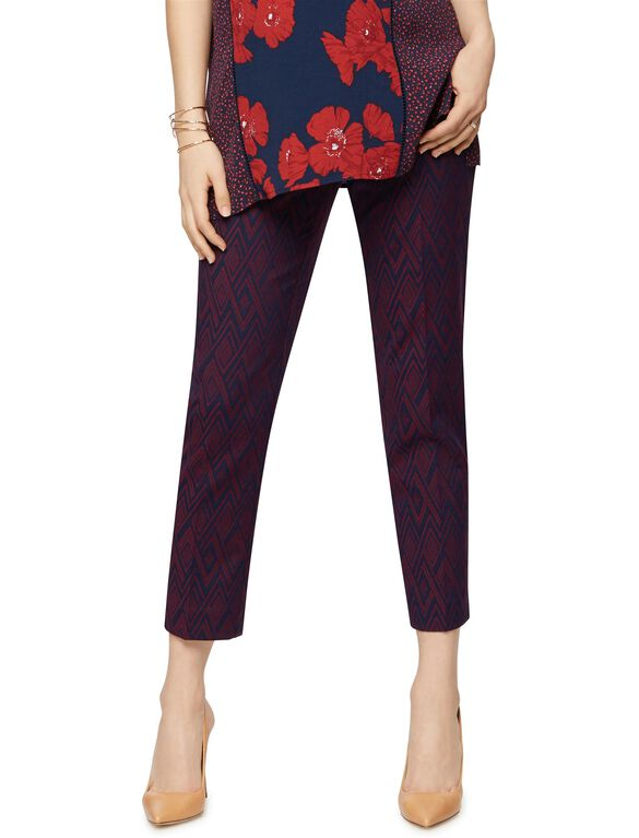 Secret Fit Belly Jaquard Straight Maternity Pants, Print