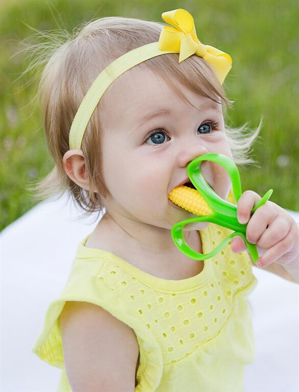 Baby Banana Corn Cob Infant Toothbrush, Corn Cob