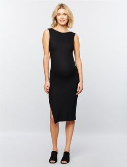 Rachel Pally Ribbed Maternity Dress, Black