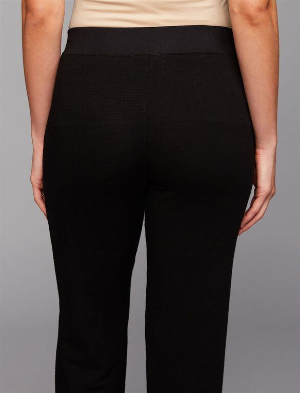 Monrow Under Belly Lace Up Maternity Jogger Pants, Black