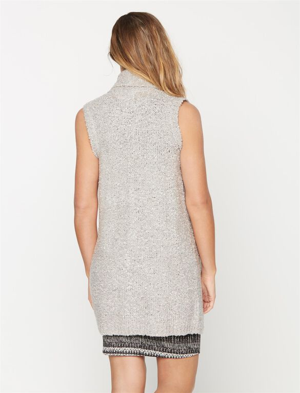 Open Front Maternity Cardigan, Grey