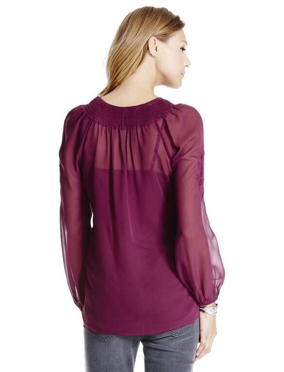 Jessica Simpson Maternity Top, Wine