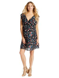 Jessica Simpson Ruffle Front Maternity Dress, Ditsy Floral Twin Print