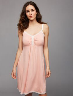 Nursing Nightgown, Coral Cloud