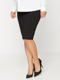 Secret Fit Belly Pencil Fit Maternity Skirt, Black