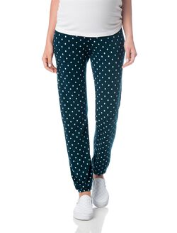No Belly Cotton Woven Maternity Jogger Pant, Storm