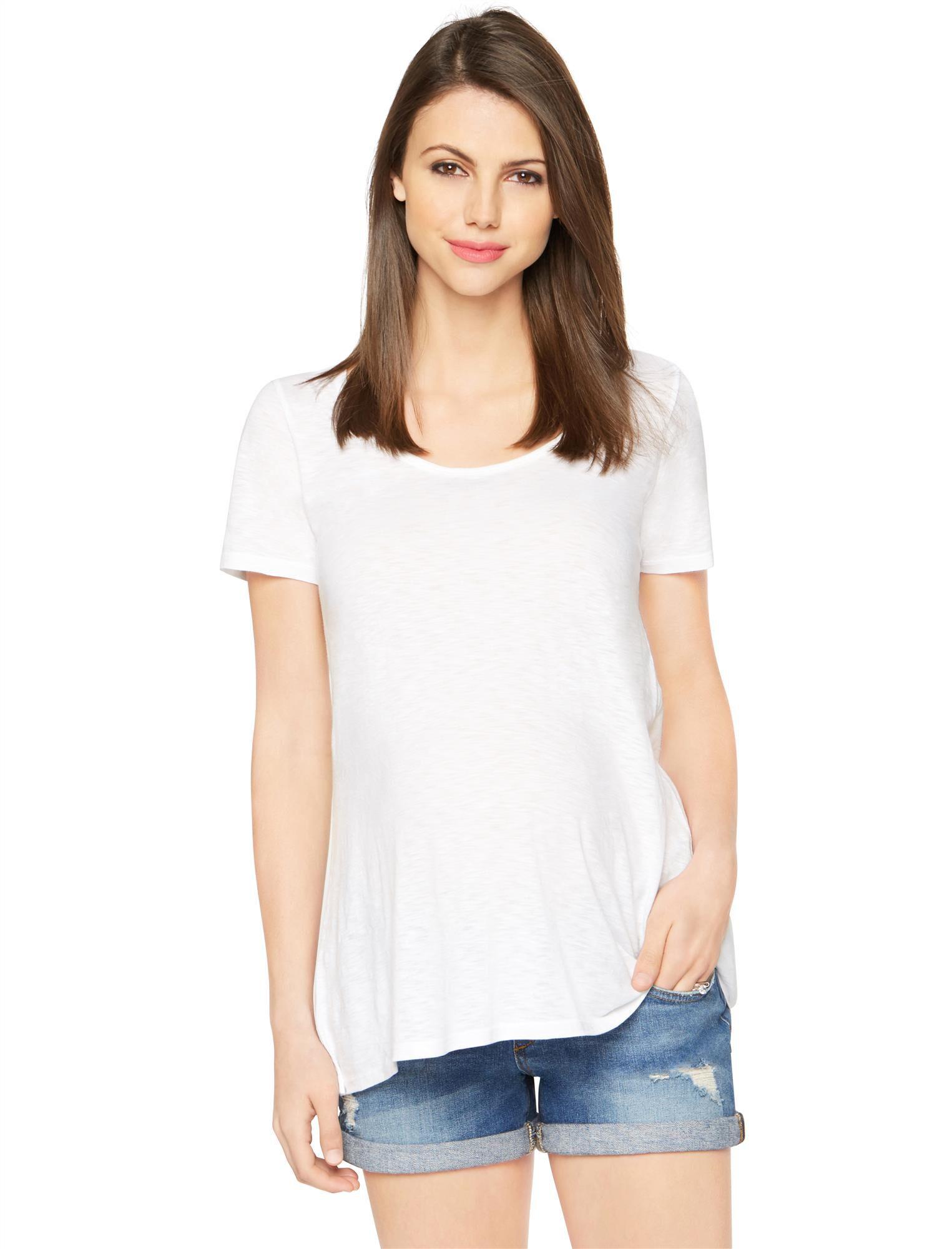 High-low Hem Maternity T Shirt