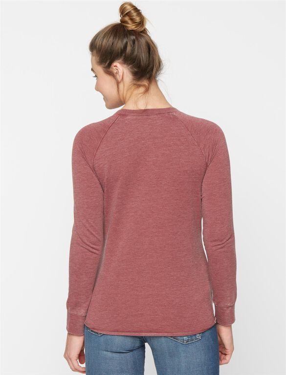 Maternity Sweatshirt, Burgandy