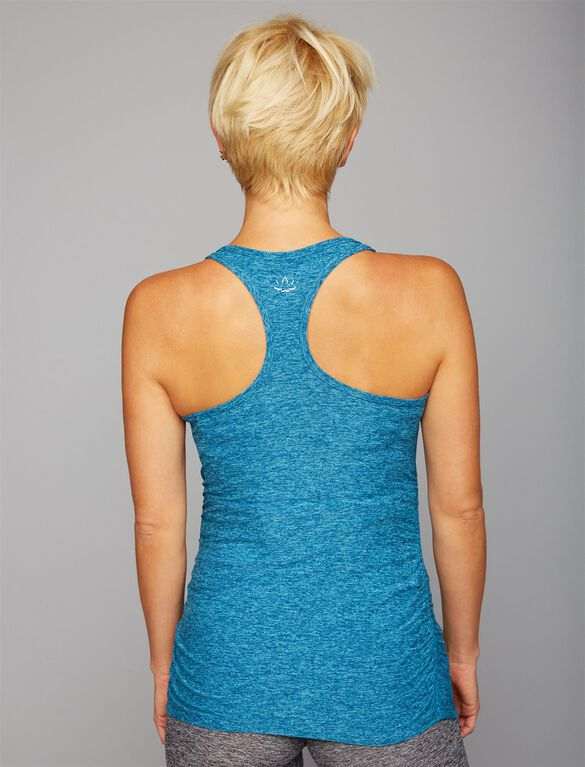 Back Interest Maternity Tank Top, TAHITI TEAL