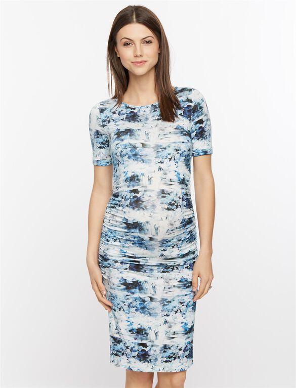 Isabella Oliver Kelburn Maternity Dress, Blue Floral Print
