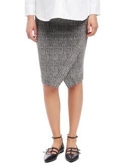 Secret Fit Belly Textured Pencil Maternity Skirt, Grey