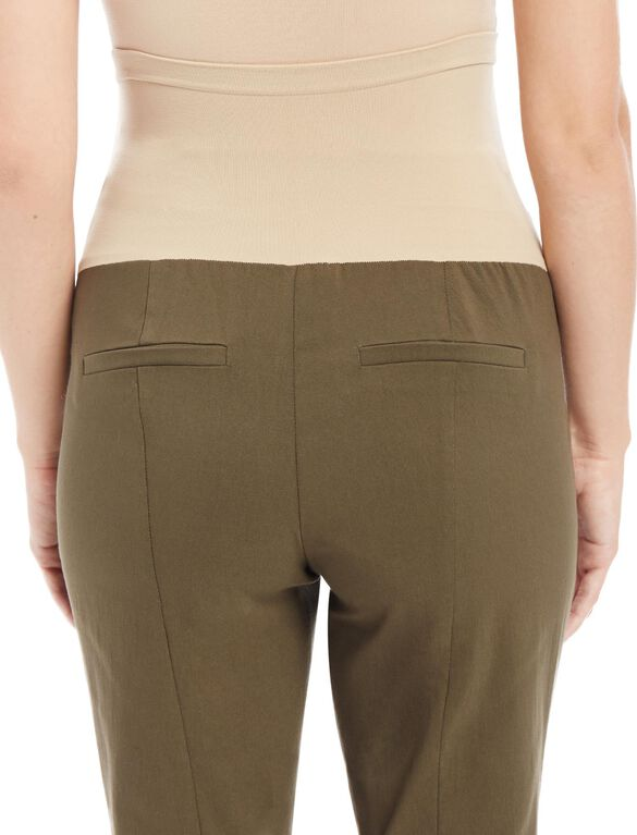 Secret Fit Belly Skinny Ankle Maternity Pants, Sea Kelp