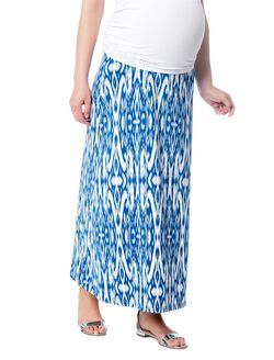 Secret Fit Belly Ikat Print Maternity Maxi Skirt, Printed