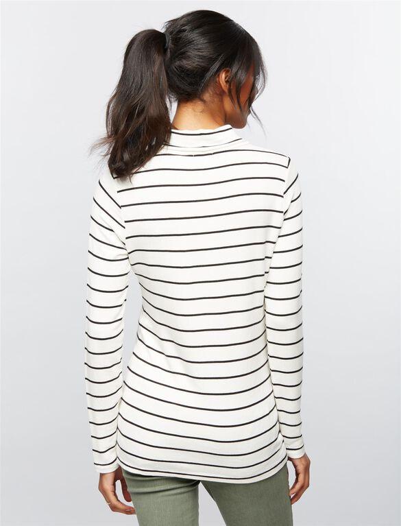 Splendid Striped Maternity Tunic, White Stripe