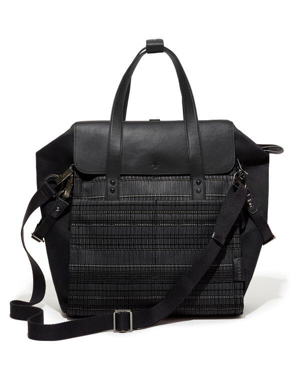 Highline By Skip Hop Convertible Diaper Bag, Black Granite