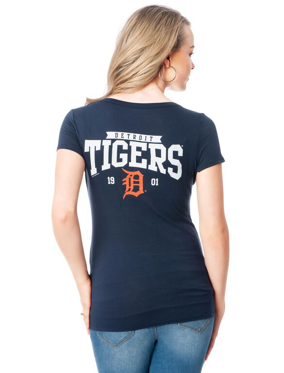 Detroit Tigers Mlb Short Sleeve Maternity Graphic Tee, Tigers