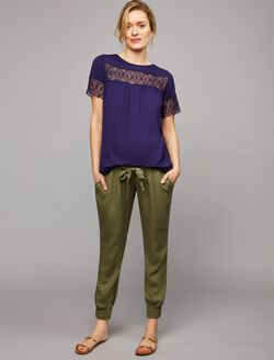 Ripe Under Belly Maternity Jogger Pant, Khaki