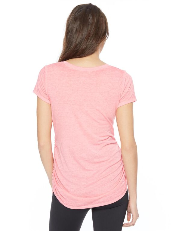 Cupid Graphic Maternity Tee, Light Pink