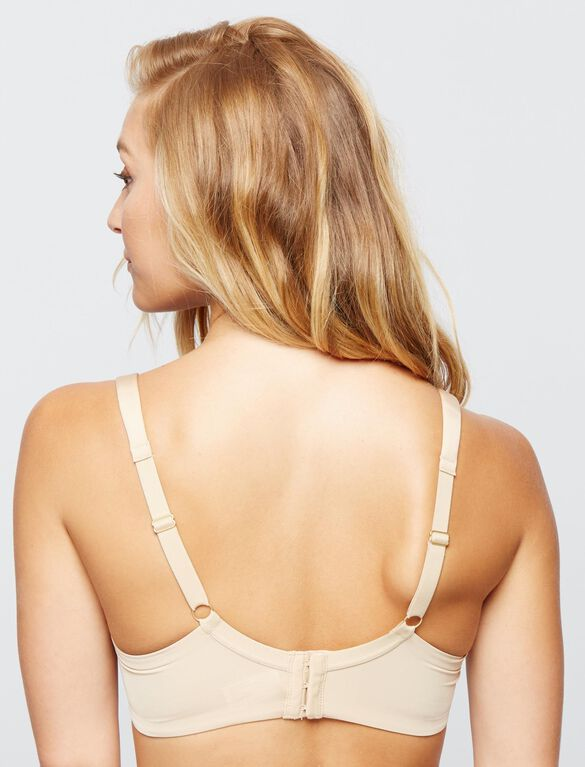 Full Coverage Underwire Nursing Bra, Nude