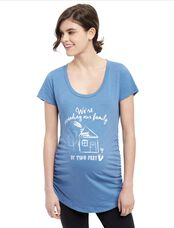 Expanding Our Family Maternity Tee, Dusty Blue