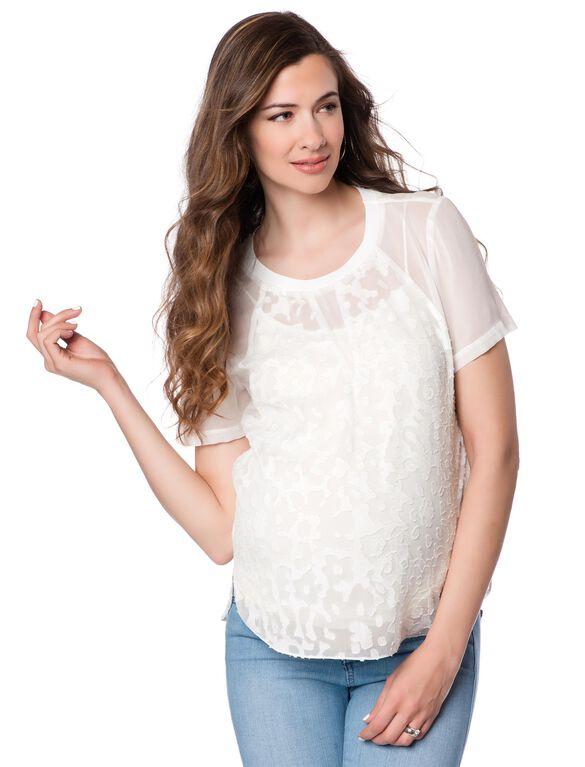 Rebecca Taylor Silk Maternity Blouse, White