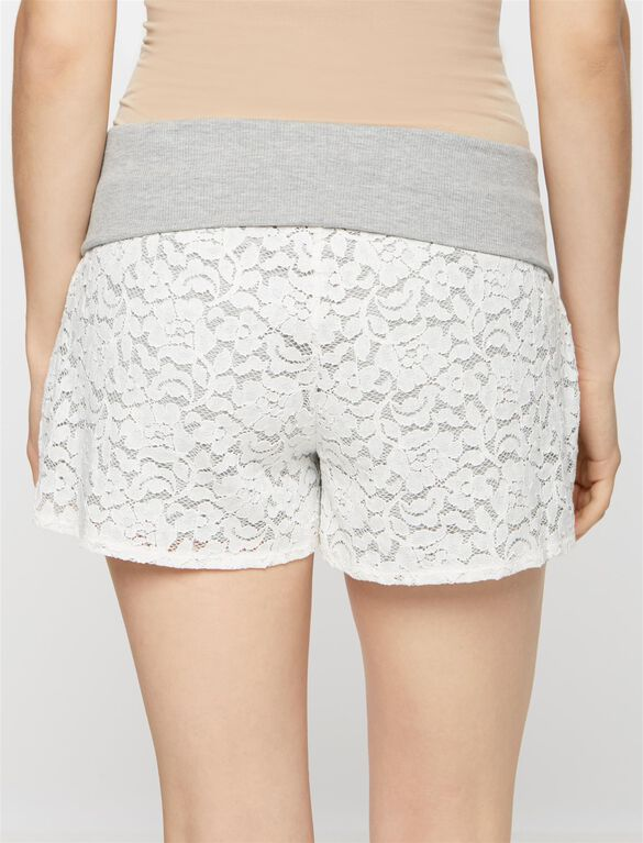 No Belly Maternity Shorts, Heather Grey