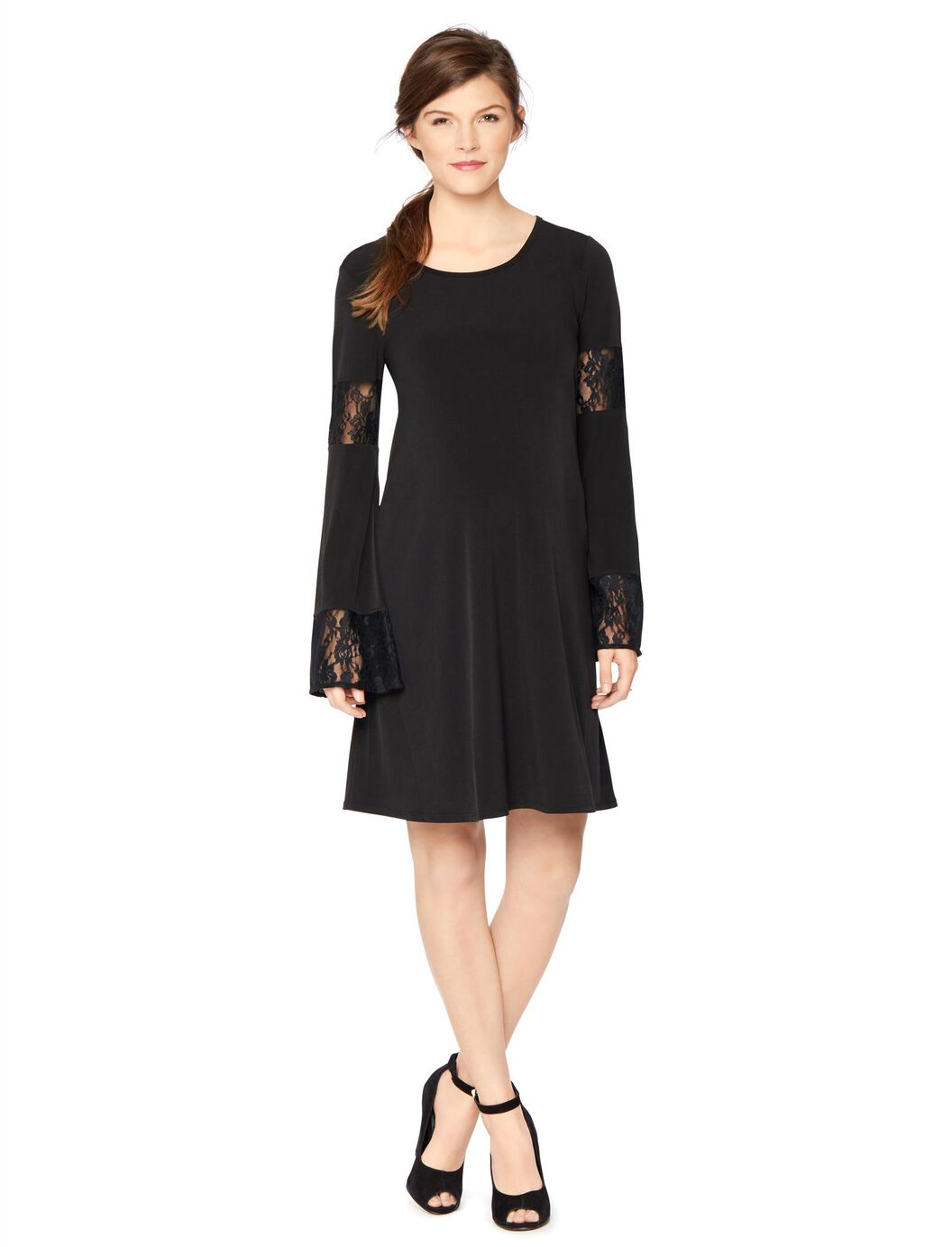 Wendy bellissimo lace bell sleeve maternity dress motherhood wendy bellissimo lace bell sleeve maternity dress black ombrellifo Gallery