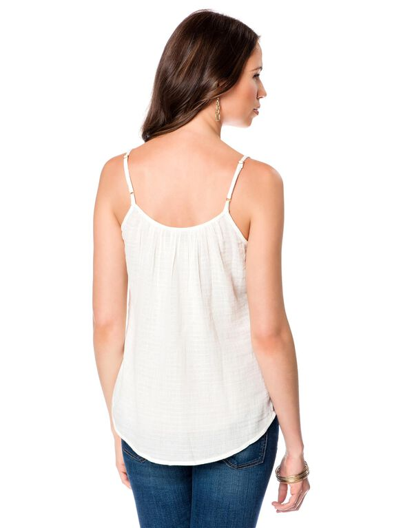 A-line Maternity Tank Top, White