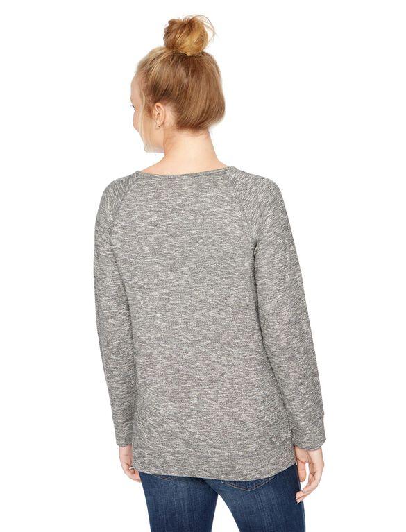Embellished Maternity Sweatshirt, Charcoal