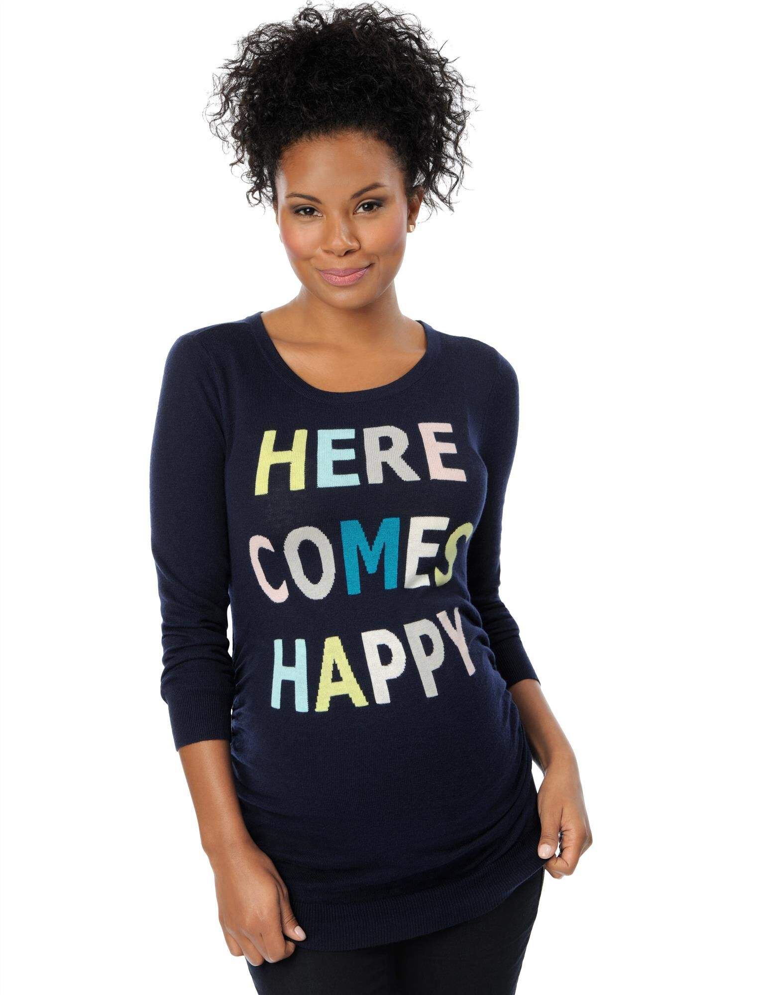 Here Comes Happy Maternity Sweater