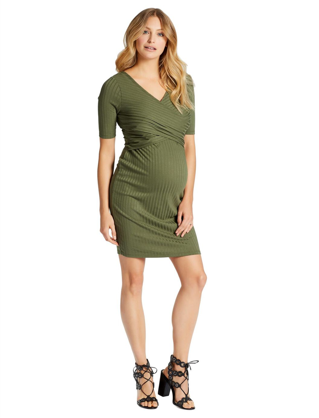 Jessica Simpson Cross Front Maternity Dress at Motherhood Maternity in Victor, NY | Tuggl