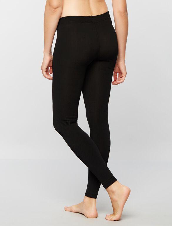 Fleece Lined Maternity Leggings, Black