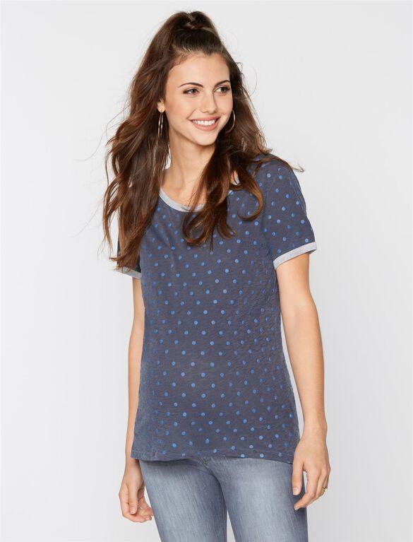 Raglan Sleeve Maternity T Shirt, Midnight Pigment