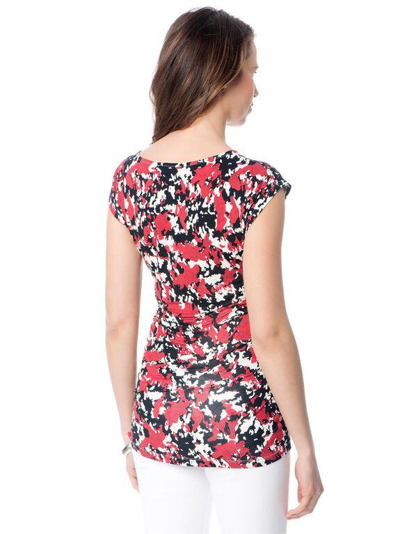 Isabella Oliver Pink Camo Print Top, Blush Camo Print