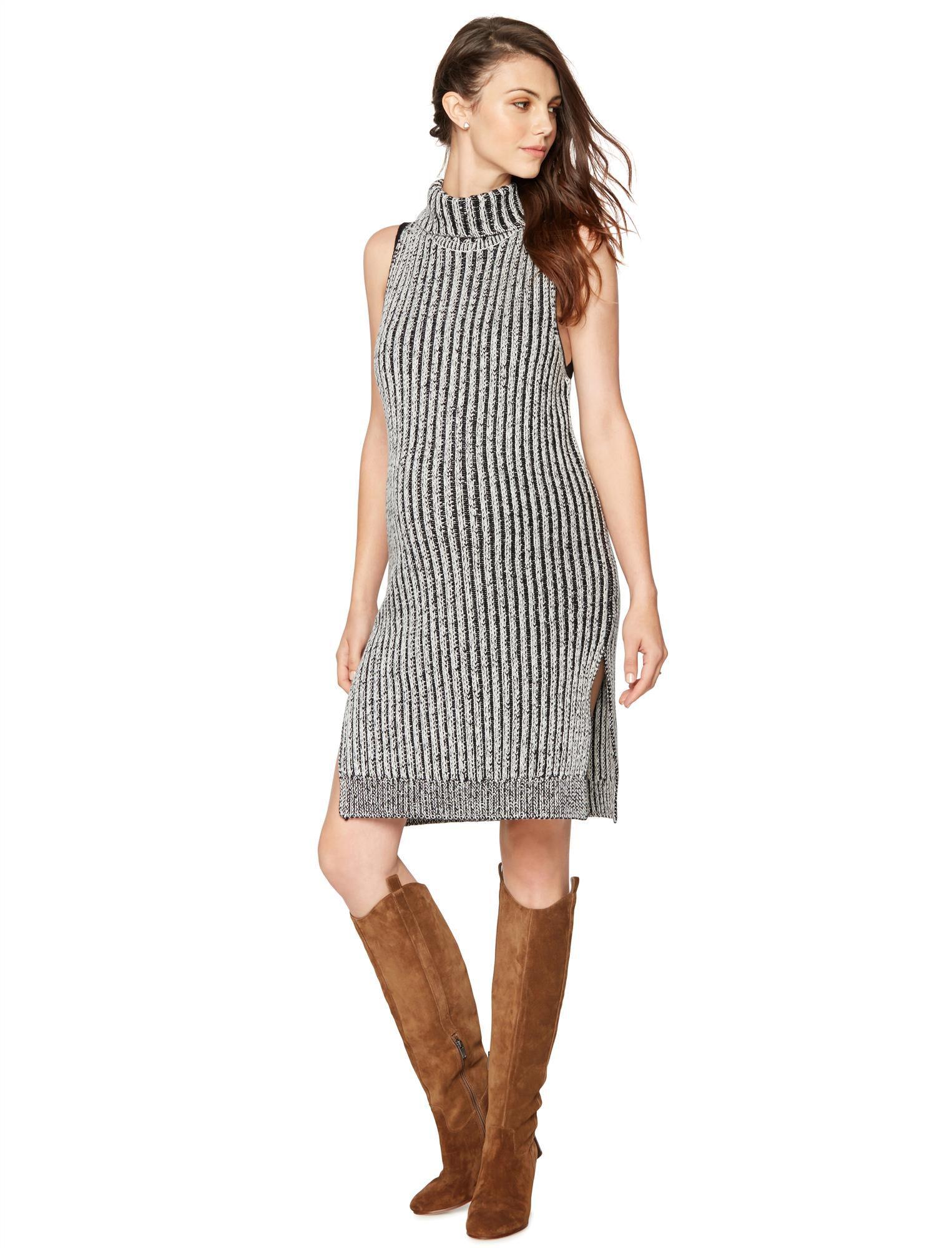 Shae Sleeveless Turtleneck Maternity Sweater Dress