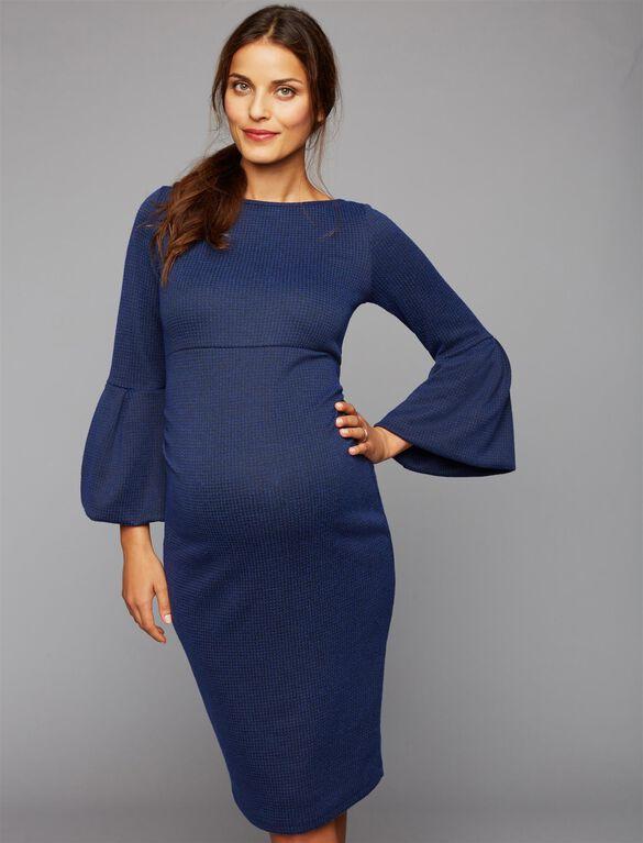 Soon Myra Ruffle Maternity Dress, Navy