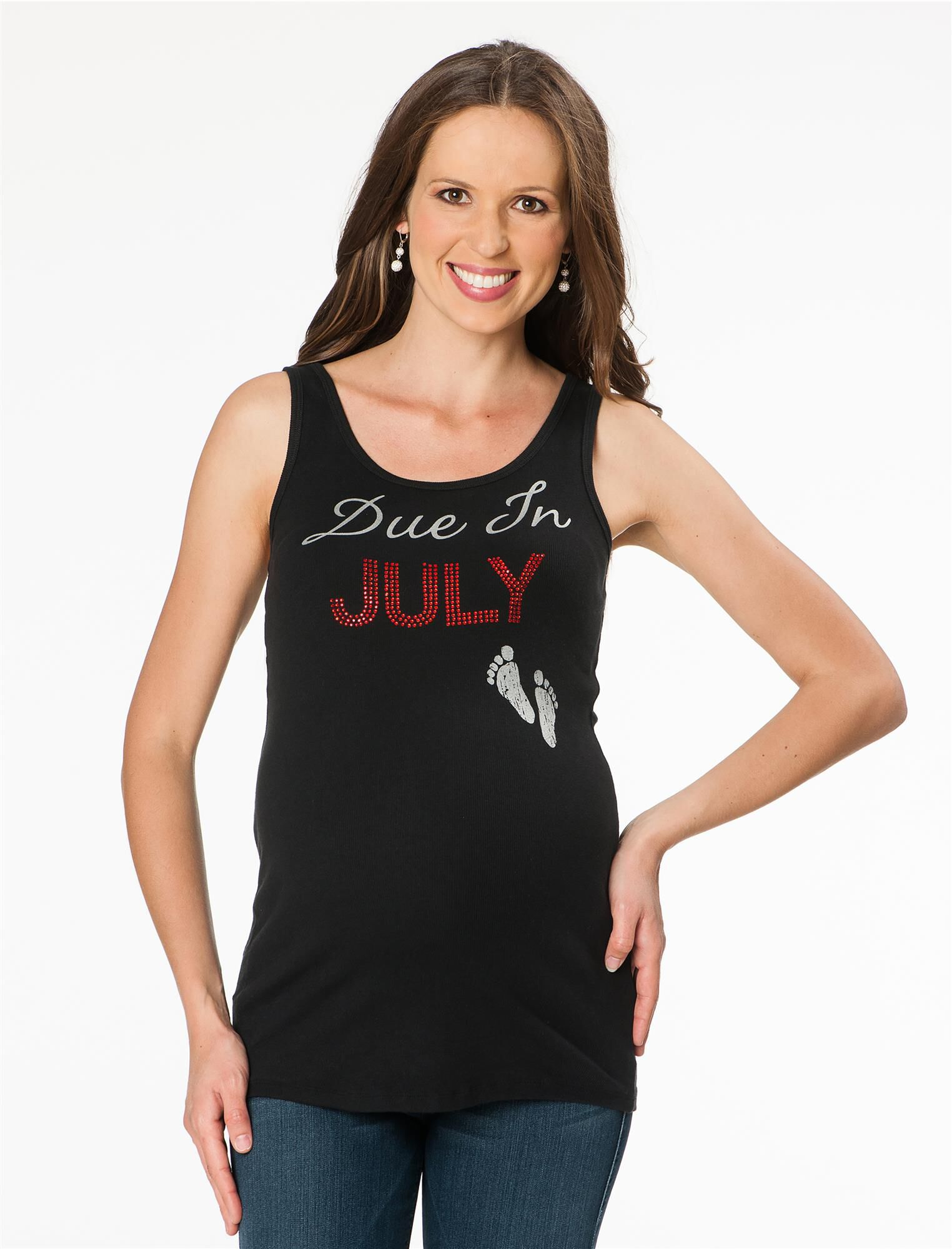 Due In July Maternity Tank Top
